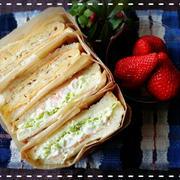 春キャベツた~っぷり使った野菜サンド&厚焼きたまごサンドウィッチ弁当です♡(*´ー`*)