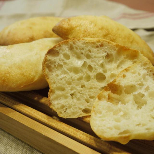 ルヴァンリキッドでチャバタ と 高きびを麻婆豆腐に