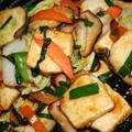 もっちり豆腐と野菜のオイスターソース