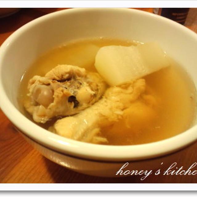 手羽元ダシのスープ