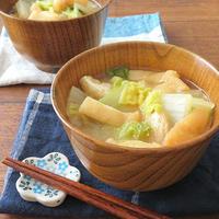 ほっこり簡単♪旨味たっぷり◎白菜と薄揚げのみそ汁