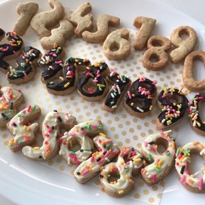 かわいい♡数字クッキー型で全粒粉クッキー