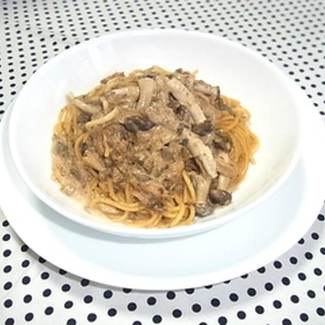 ★簡単で美味しい鯖味噌クリームパスタです。★