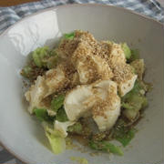 ゆでキャベツと豆腐のあっさりサラダ
