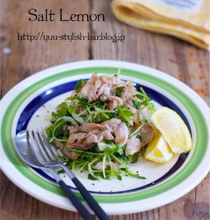 【レシピブロブ連載】彼がお野菜をペロリ♪抱えて食べたいおかずサラダ♪『レモン塩だれで♡豚バラと豆苗と新玉ねぎのソテー』