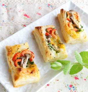 冷凍パイシート&トースターで作る!のせていくだけの野菜のパイ☆ワインのお供に!おやつにも!!