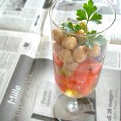 トマトと豆のイタリアンハーブマリネ