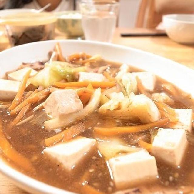 八宝菜風いかと豆腐のあんかけ煮物 おいしい山形のさくらんぼ