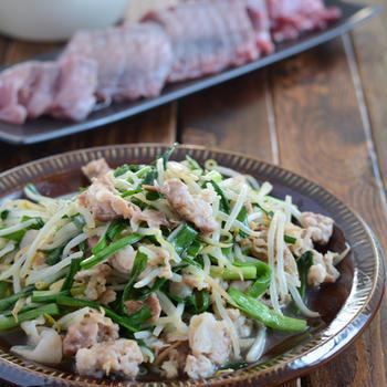 豚肉ともやしで2品の晩ごはんと作り置き晩ごはん。