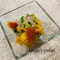 カラフル野菜の手もみサラダ レモン風味