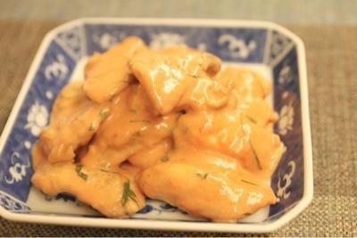 鶏胸肉の海老マヨ風