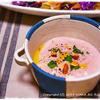 カルダモンの紫芋スープ