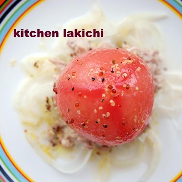 ナイフとフォークで食べる☆トマトが主役のサラダ(レシピ)なんちゃって東洋亭風