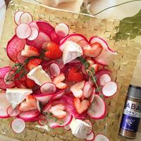 +*シナモン香る苺とカマンベールのサラダ+*