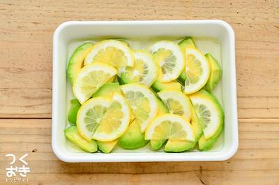 5分で作れる常備菜。アボカドレモンマリネ