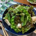 和えるだけ簡単♡スナップエンドウと豆腐のやみつきサラダ【#簡単レシピ#時短#節約#ダイエット】
