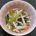 休日のひとり居酒屋、その3:ちくわと小松菜の白だし煮