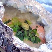 生鮭のとろろホイル焼き