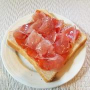 柿と生ハムとチーズのトースト by こよさん