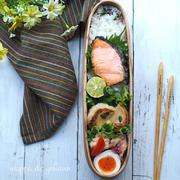 4月26日 筍の挟み焼き弁当 と おむすび弁当