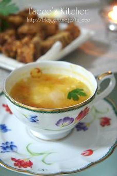 卵のコンソメスープ(レシピ付)