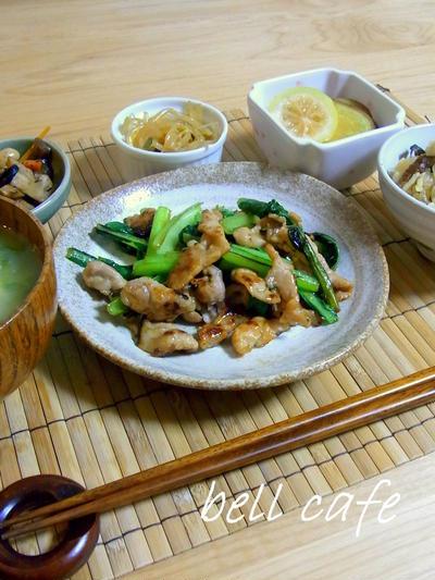 塩麹豚と小松菜の炒め物