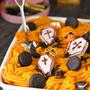 Q・B・Bチーズデザートで簡単ハロウィン♪かぼちゃのスコップケーキ