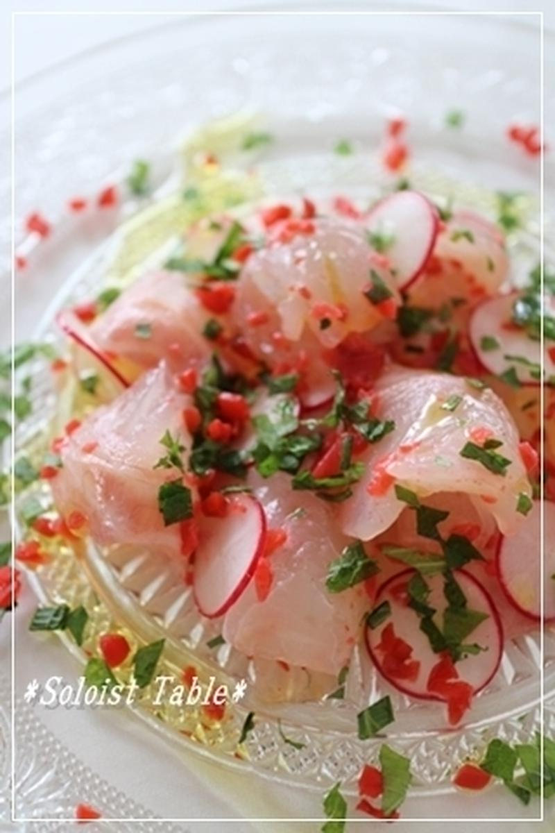 盛りつけ方もチェック♪簡単&おしゃれな魚介のカルパッチョでおもてなし