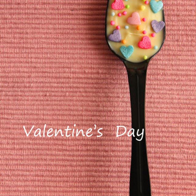 簡単バレンタインチョコ♪ラブリー版スプーンチョコとラッピング