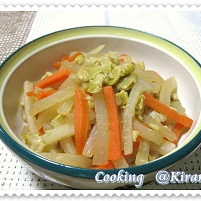 ◆ 2.25 大根と人参の煮合い(おふくろの味2)♪ 真央ちゃんガンバレ〜♪