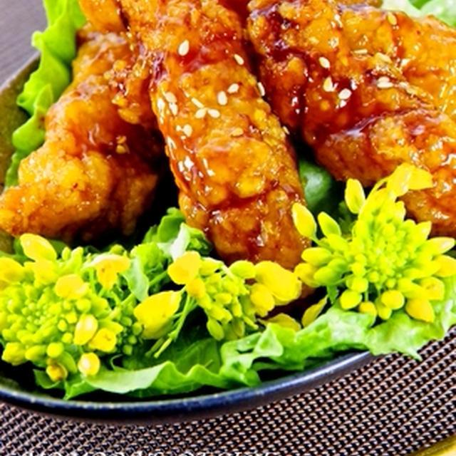 鶏むね肉で簡単♪揚げない甘辛ウイング風な照り焼きチキン♡お花見お弁当にも
