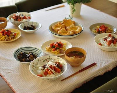 サーモンのがっつり系韓国風漬け丼で食欲up!と楽して楽してら~くらく