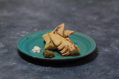 おどろきのふきのとう味噌と焼き筍