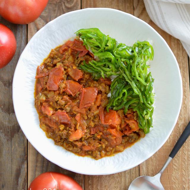 トマトカレー。ルー不要、生トマトで。フライパンで簡単!【農家のレシピ帳】