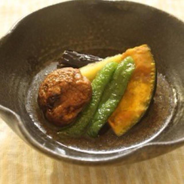 夏野菜の揚げびたし&今日のお弁当