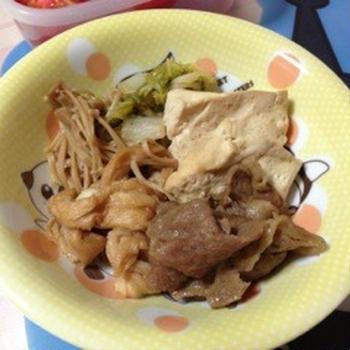 今日の夕飯 〜肉豆腐編〜