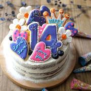 娘、14歳。Birthday cake 2017