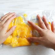 コンビニの冷凍マンゴーで簡単!お家ラッシー!