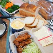 ミニ山食パンで、セルフサンドイッチのお弁当。