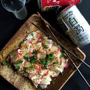 蛸とセロリの中華風カルパッチョ
