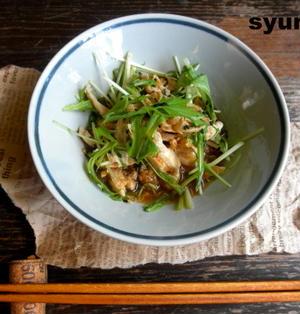 【簡単!!】ささみと水菜の玉ねぎおろし和え