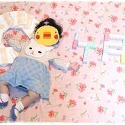 ■ ベビーアート写真♪ 9ヶ月になりました~★(´・ω・`) ■赤ちゃんの髪で筆を作る?『胎毛筆』