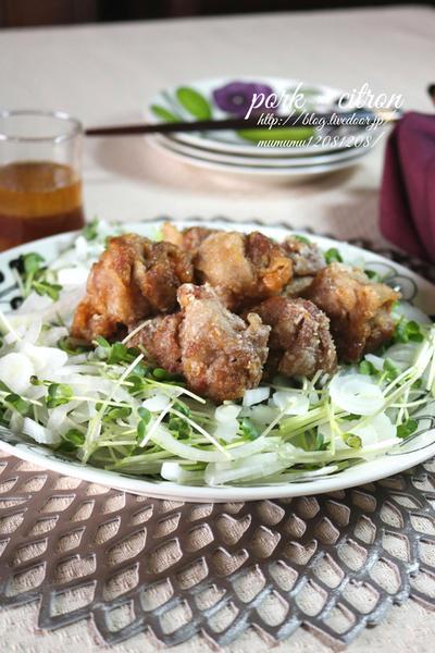 《レシピ》豚こまで♪肉団子のゆず南蛮漬け♡ と、本日のわんこ。
