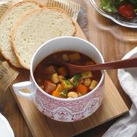 たっぷり大豆と筍のトマトスープ♪