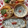 レンジで♪豚の角煮風弁当&冷や(ゴマ)汁素麺な夕食