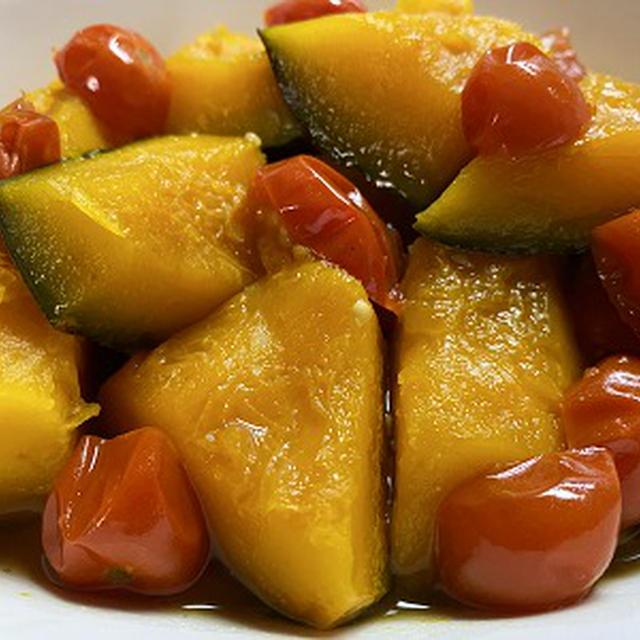ロロン・カボチャとミニトマトの煮物&庭のレモンの木♪