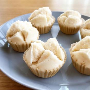グルテンフリーの米粉蒸しパン