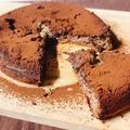 【ヘルシースイーツ】材料4つ☆HMで簡単!豆腐のチョコレートケーキ