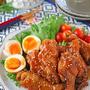 フライパンでテリテリお酢で柔らか鶏手羽元のお酢煮♪