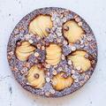 洋梨とオリーブオイルのチョコレートケーキ